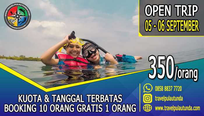 Open Trip Pulau Tunda 05 - 06 September